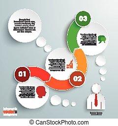 timeline, karikák, 3, infographic, lenget