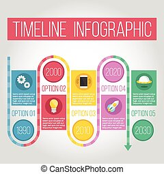 timeline, kreative, infographic