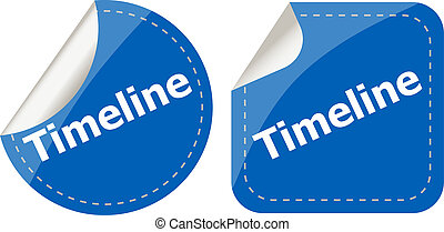 timeline Labels, stickers, pointers, tags for your (web)...