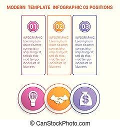 timeline, moderne, gabarit, infographic, pour, affaires 3,...