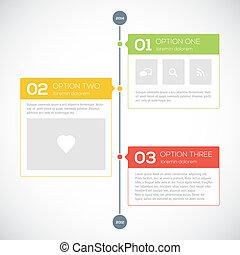 timeline, moderno, diseño, plantilla