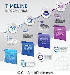 timeline, papier, infographics