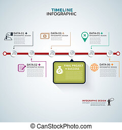 timeline template infographic