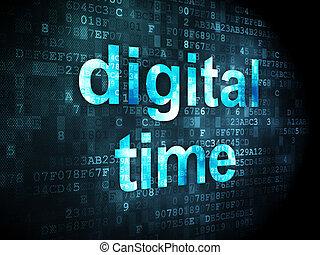 timeline, tempo, concept:, fondo, digitale