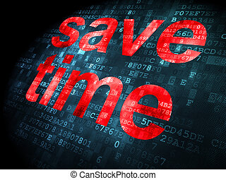 timeline, tempo, fondo, digitale, risparmiare, concept:
