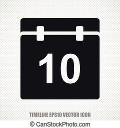 Timeline vector Calendar icon. Modern flat design.