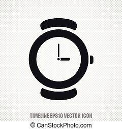 Timeline vector Hand Watch icon. Modern flat design. - The...