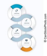 Timeline vector infographics elemen