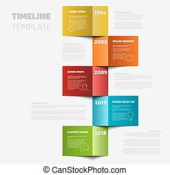 timeline, vertical, gabarit