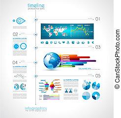 timeline, visualizzare, tuo, dati, con, infographic,...