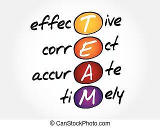timely, précis, correct, efficace, -, équipe