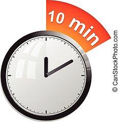 Timer 10 minutes vector illustration in eps 10