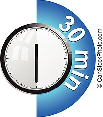Timer 30 minutes vector illustration in eps 10
