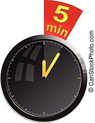 Timer 5 minutes vector illustration