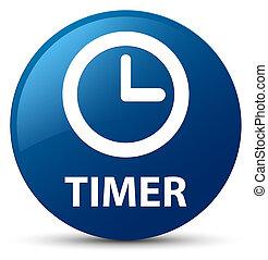 Timer blue round button
