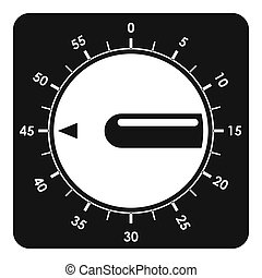 Timer clock icon, simple style