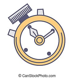 Timer clock with handles, countdown and speed measurement
