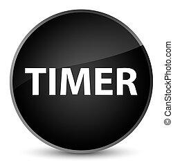 Timer elegant black round button
