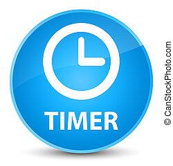 Timer elegant cyan blue round button
