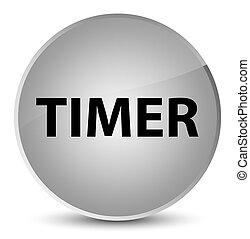 Timer elegant white round button