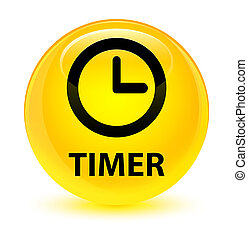 Timer glassy yellow round button