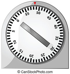 Timer - Glossy illustration of an analog 60-minute timer