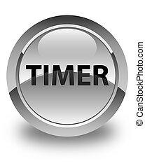 Timer glossy white round button