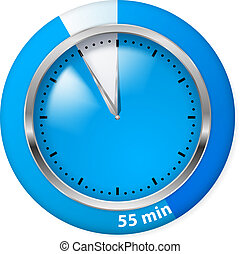 Timer icon - Blue Timer Icon. Fifty-five Minutes....