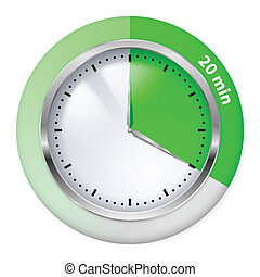 Timer icon - Green Timer Icon. Twenty Minutes. Illustration ...