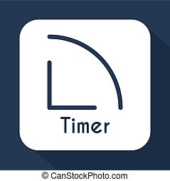 Timer icon in flat style.