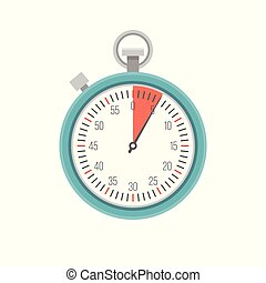 Timer icon vector, flat design