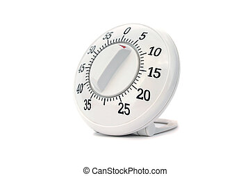 timer isolated on white