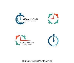 Timer logo vector