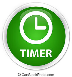 Timer premium green round button