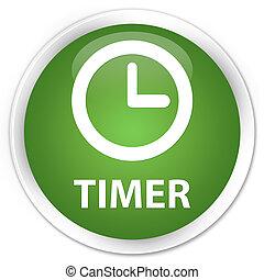 Timer premium soft green round button