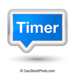 Timer prime cyan blue banner button