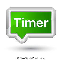 Timer prime green banner button
