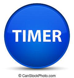 Timer special blue round button