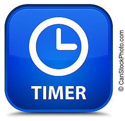 Timer special blue square button