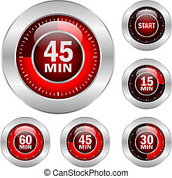 Timer vector icons