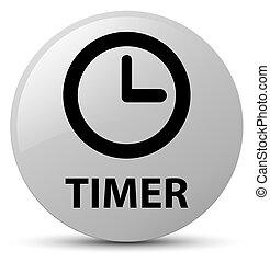 Timer white round button