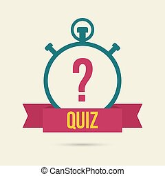 Timer with a question. Quiz. The concept is the question the...