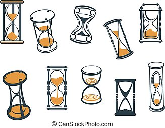timers, hourglasses, ei, set, of