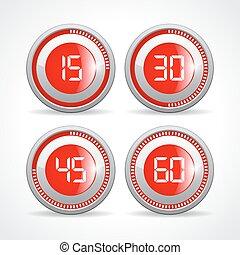 set clock for 15 minutes