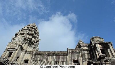 angkor wat - times laspe of passing clouds over angkor wat