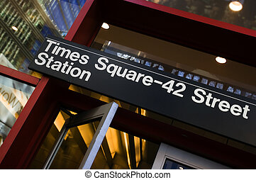 Times Square - 42nd street subway station in Manhattan