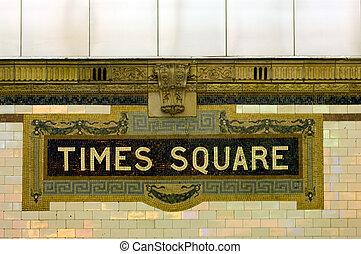 Times Square subway station, Manhattan, New York
