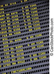 Timetable board 2