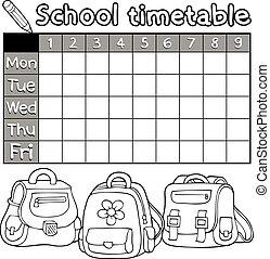 timetable, coloring bog