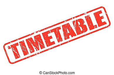 TIMETABLE red stamp text